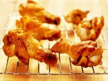 Asas de galinha fritada Fotografia de Stock Royalty Free