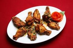 Asas de galinha fritada Fotografia de Stock