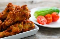 Asas de galinha fritada Fotos de Stock Royalty Free