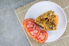 Asas de galinha fritada Foto de Stock Royalty Free