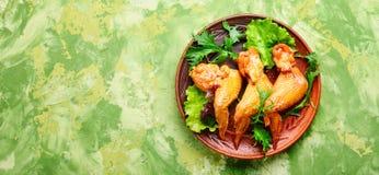 Asas de galinha fumadas fotografia de stock royalty free