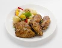 Asas de galinha Kabab Imagens de Stock