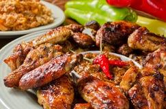 Asas de galinha picantes imagens de stock royalty free