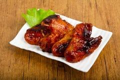 Asas de galinha picantes imagens de stock