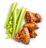 Asas de galinha picantes Roasted Fotos de Stock