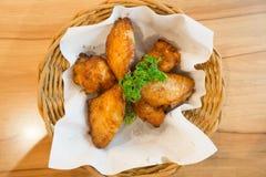 Asas de galinha quentes e picantes Fotografia de Stock Royalty Free