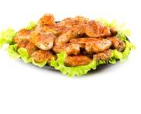 Asas de galinha Roasted Imagens de Stock
