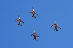 Asas de Portugal performing at Red Bull Air Show Royalty Free Stock Photo