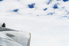 Asas de A380 sobre as nuvens Imagem de Stock Royalty Free