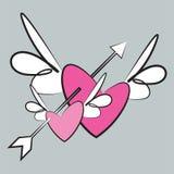 Asas do amor Imagens de Stock