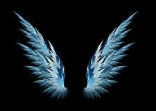Asas do anjo azul Fotografia de Stock