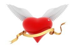 Asas do coração Fotografia de Stock