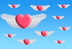 Asas do coração imagens de stock royalty free