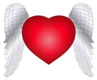Asas do coração ilustração do vetor