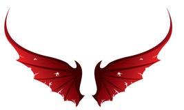 Asas do diabo ilustração royalty free