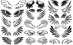 Asas do símbolo Imagens de Stock Royalty Free