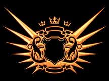 Asas douradas Imagens de Stock Royalty Free