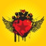 Asas e coração ilustração royalty free