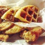 Asas e waffles Imagens de Stock Royalty Free