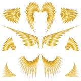 Asas isoladas do anjo ilustração stock