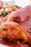 Asas quentes e de Spicey do búfalo de galinha fotografia de stock