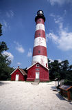 Asateaque Lighthouse. Red And white Lighthouse, Asateaque, Delaware Stock Photography