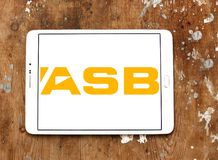ASB Bank logo. Logo of ASB Bank on samsung tablet. ASB is a bank owned by Commonwealth Bank, operating in New Zealand. It provides a variety of financial Royalty Free Stock Photo