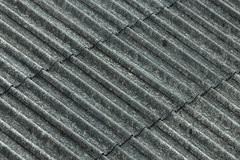 Asbest Golfdakdeklaag royalty-vrije stock fotografie