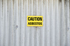 asbestis危险 免版税库存照片