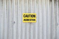 Asbestis del pericolo Fotografie Stock Libere da Diritti