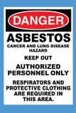 Asbesto do perigo ilustração do vetor
