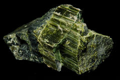 Asbestos. An ore sample of raw asbestos fresh from the ground Stock Images