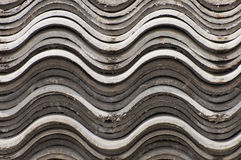 Asbestos board. Corrugated asbestos board, covering slate  roof slate Stock Photography