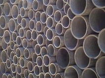 Asbestos cement pipes used for drainage construction. Texture for background. Asbestos cement pipes used for drainage construction Stock Photos