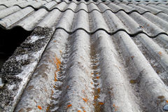 Asbestos Cement Roof sheets Royalty Free Stock Photo