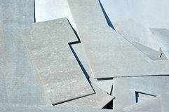 Asbestos cement wallboard Royalty Free Stock Image