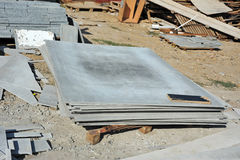 Asbestos cement wallboard Stock Photography