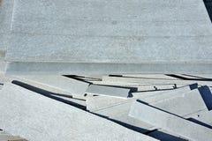 Asbestos cement wallboard Royalty Free Stock Photos