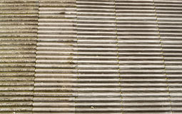 Asbestos Concrete Roof Tiles. Spread across the whole frame Royalty Free Stock Photo