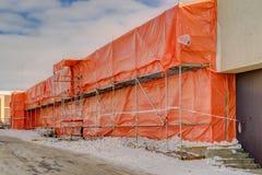 Asbestos control dust isolation - building demolition preparatio Royalty Free Stock Photo