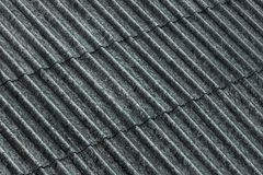Asbestos Corrugated Roof Coating stock photography