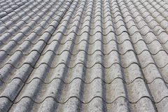 Asbestos Country House Roof. Dirty Asbestos Country House Roof at Zeeland, Netherlands royalty free stock photography