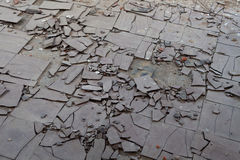 Asbestos floor tiles Royalty Free Stock Photography