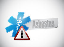 Asbestos medical warning sign illustration. Design over a white background royalty free stock image