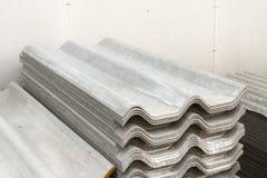 Asbestos roof Stock Photos