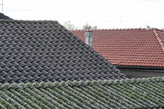 Asbestos roof Stock Image