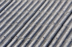 Asbestos roof. Of a old house, before removal Stock Images