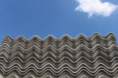 Asbestos roof. Piled up Royalty Free Stock Images
