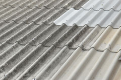 Asbestos roof in background. Close up of Asbestos roof in background Royalty Free Stock Photos