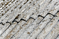 Asbestos roof. Close up image Stock Photography